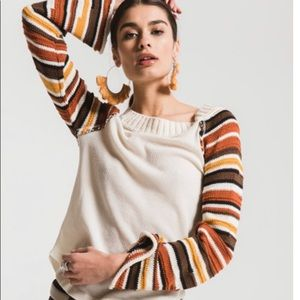 Altar'd state thermal knit sleeve top